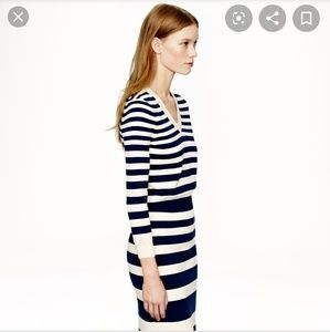 J. Crew Skirts - J.Crew Collection Cream and Navy Stripe Skirt